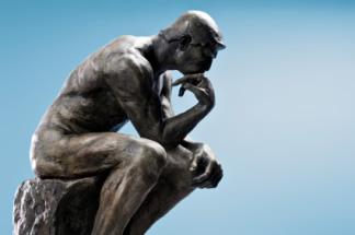 Irraizonale pensiero statua irrational-thinking
