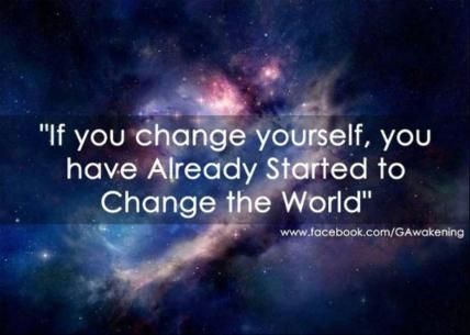 change the world cambiare il mondo